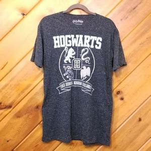 Hogwarts Harry Potter Gray Tshirt Charcoal size L